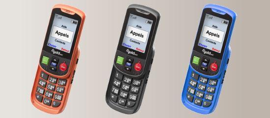 El teléfono Alto II en naranja, negro y azul