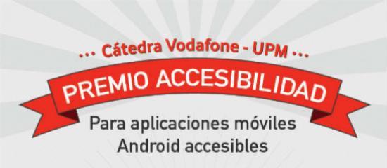 Cartel de anuncio del Premio Cátedra Vodafone UPM