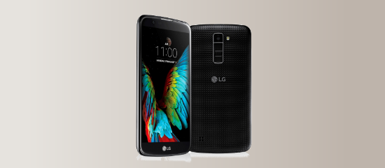 El LG K10 en negro