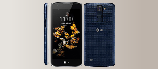 The LG K8 in gray