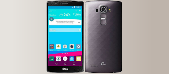 The LG G4 in gray