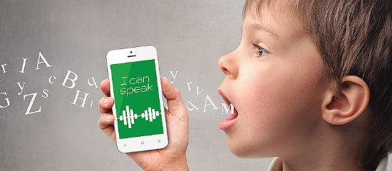 Decorative picture. A child talking on a cell phone
