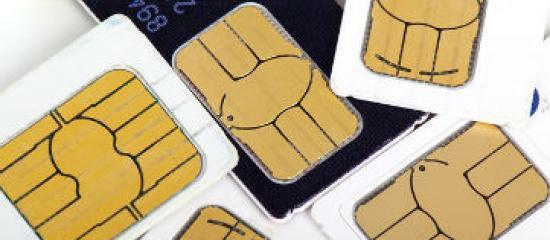 Imagen de adorno. Grupo de tarjetas SIM